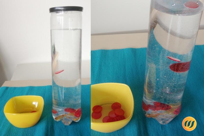 Dose Mit Wasser Und Knöpfen